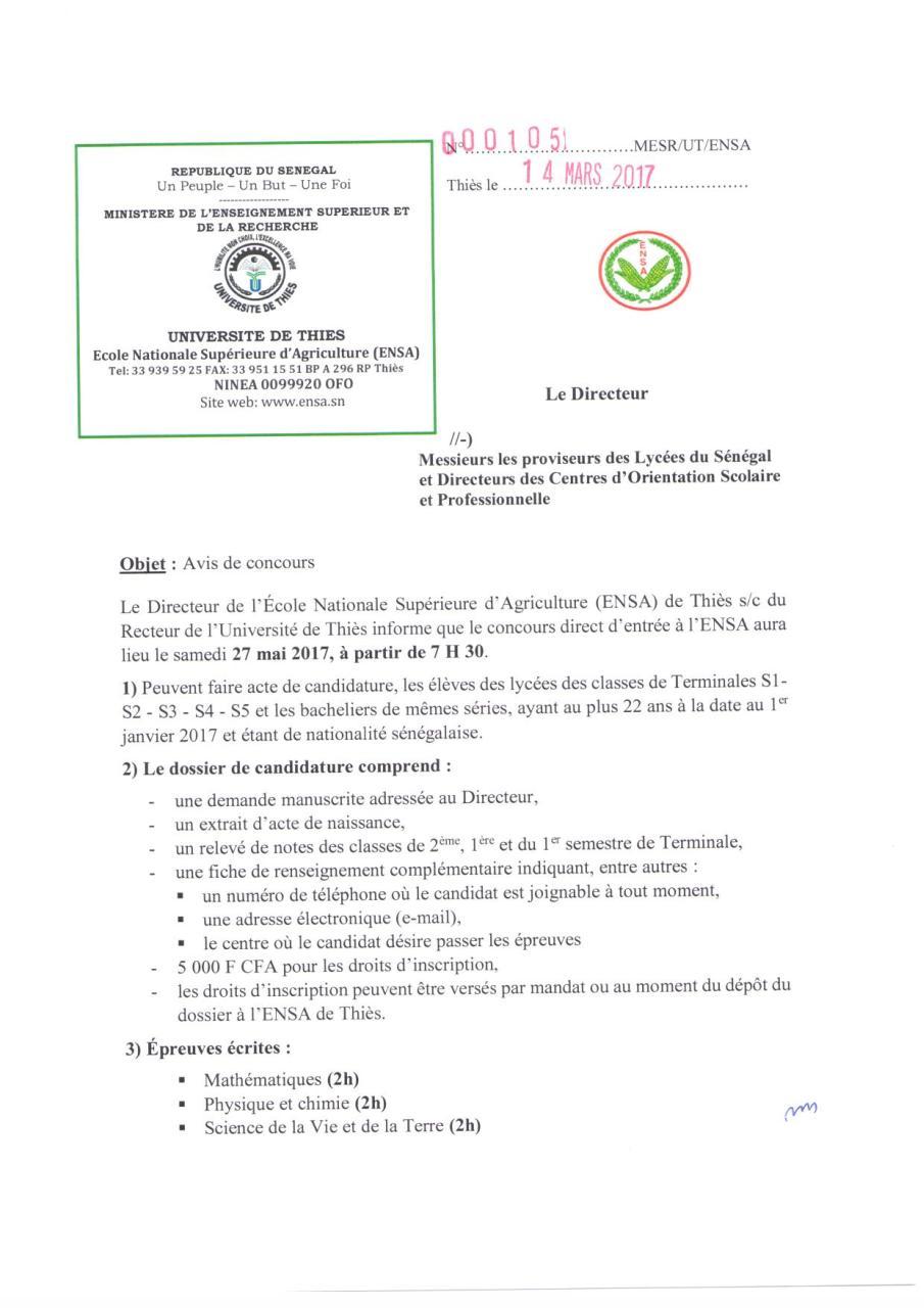 0aab289e94b CALENDRIER GENERAL DES EXAMENS ET CONCOURS 2017 - Fichier PDF