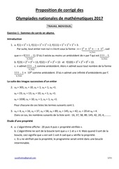 Fichier PDF corrige olympiades maths 2017 travail individuel