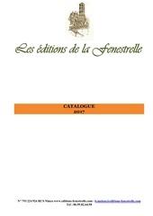 catalogue 2017 editions de la fenestrelle
