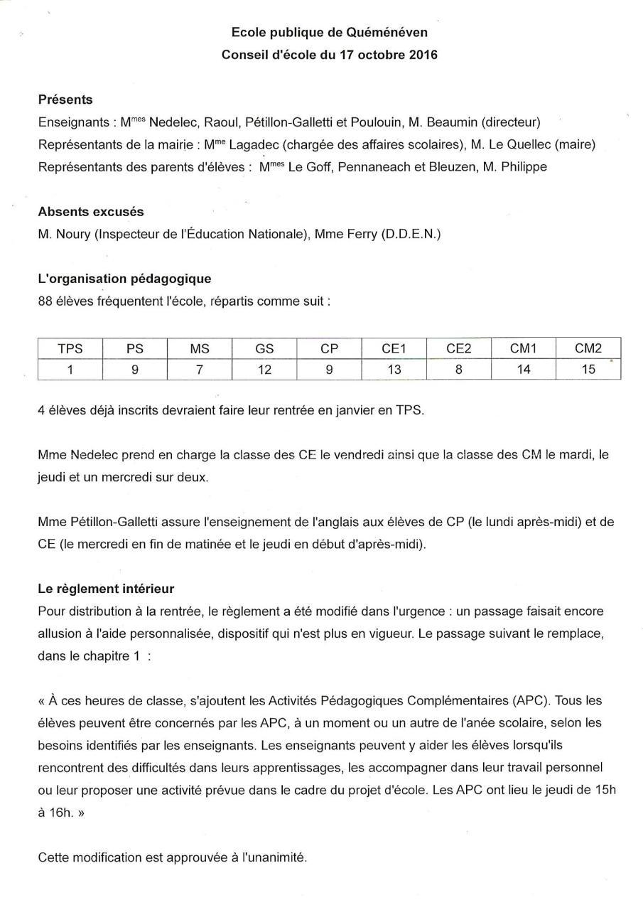 Aperçu conseil d'Ecole - OCTOBRE 16.pdf - Page 1/4