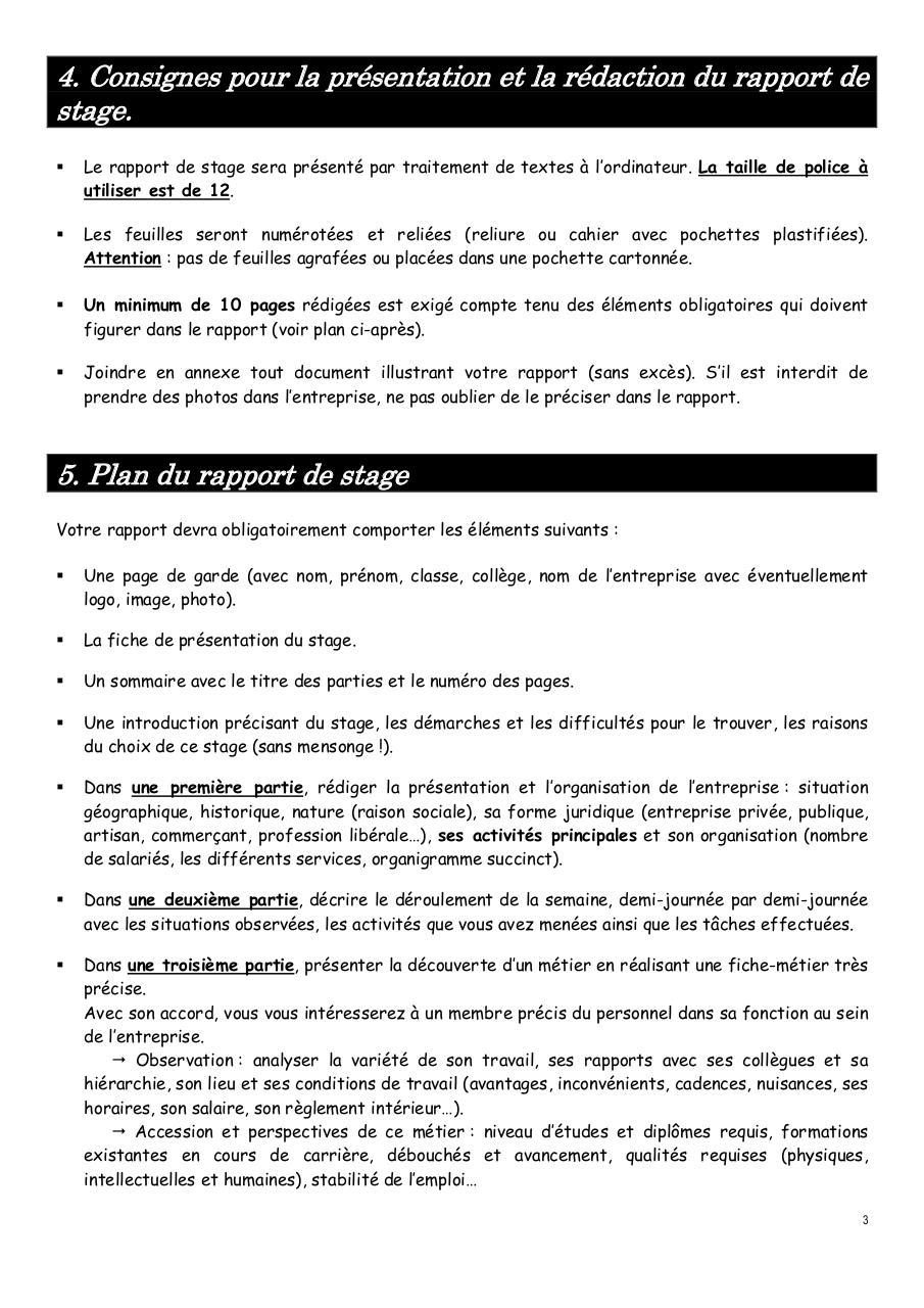 Guide Rapport De Stage 2017 Par Mathed Fichier Pdf