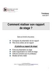 guide rapport de stage 2017