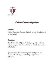 presentation cabinet avocat