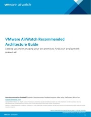 Fichier PDF vmware airwatch recommended architecture guide v9 1