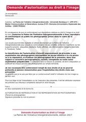 autorisation droit a limage 2017
