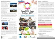 brochure of commtech camp highlight 2017