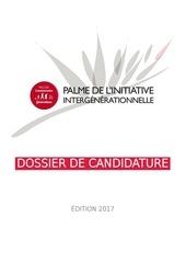 dossier de candidature 2017