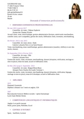 gourmand julie cv