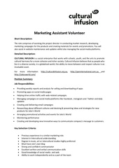 marketing assistant intern joko world