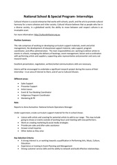 national schools program roles and responsibilities 1