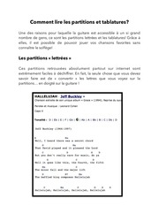 Fichier PDF comment lire les partitions et tablatures