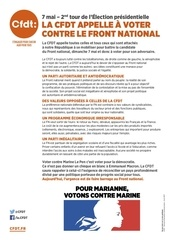 cfdt tract appel a voter 7 mai 2017