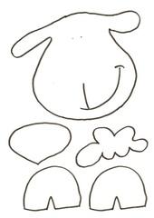 Fichier PDF gabarit 1 mouton de paques