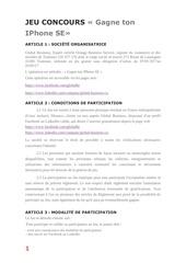 Fichier PDF reglement jeu concours global business
