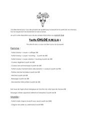 tarif chloe docx