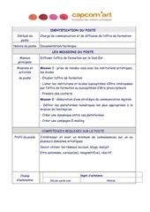 Fichier PDF fiche de poste