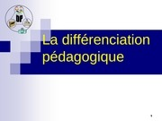 la differenciation pedagogique