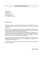 lettre de motivation justine leger
