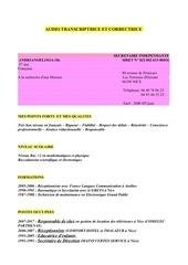 cv audio transcriptrice et correctrice c