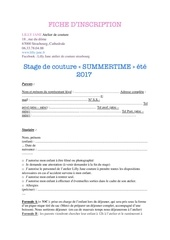 fiche d inscription au stage summertime 2017 pdf