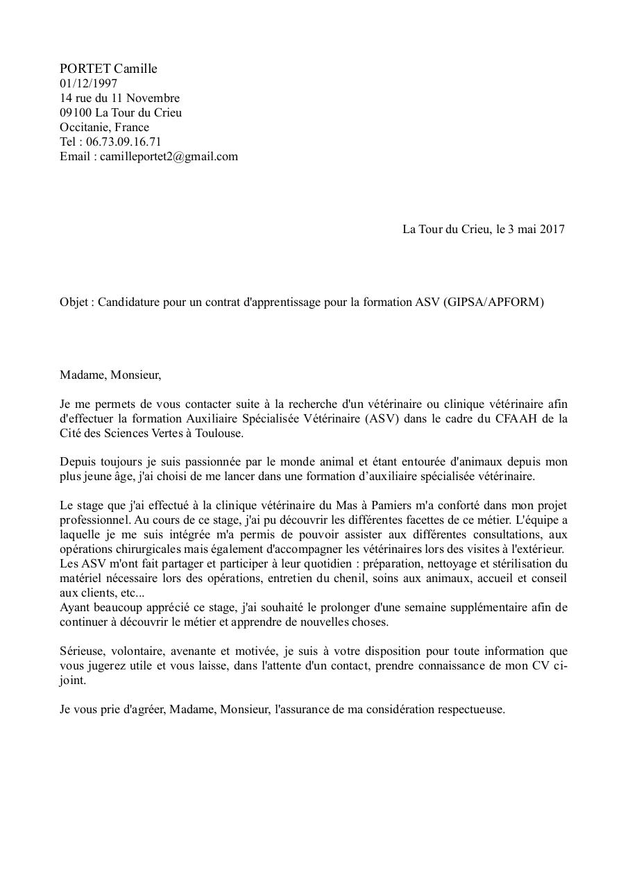 lettre de motivation asv   lettre de motivation asv  pdf