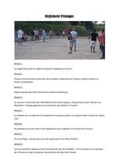 reglement petanque
