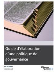 guide sur les politiques de gouvernance