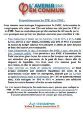 propositions pour les tpe et les pme
