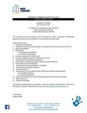 Fichier PDF avis de convocation