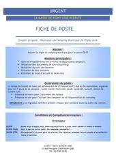 Fichier PDF urgent regisseur camping