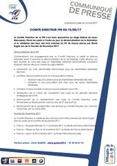 cp ffr comite directeur 15 mai 17