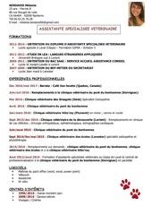 Fichier PDF cv paris