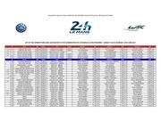 entry list 24 heures du mans 2017