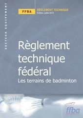 reglement technique les terrains de badminton