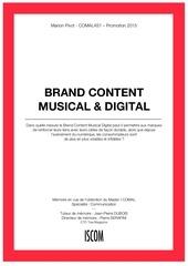 brand content musical et digital memoire marion pivot