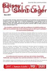 journal des communistes mai 2017