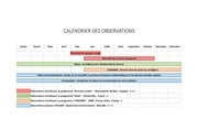 Fichier PDF se calendrier des observations