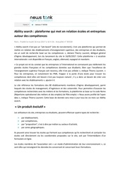 Fichier PDF article ability search