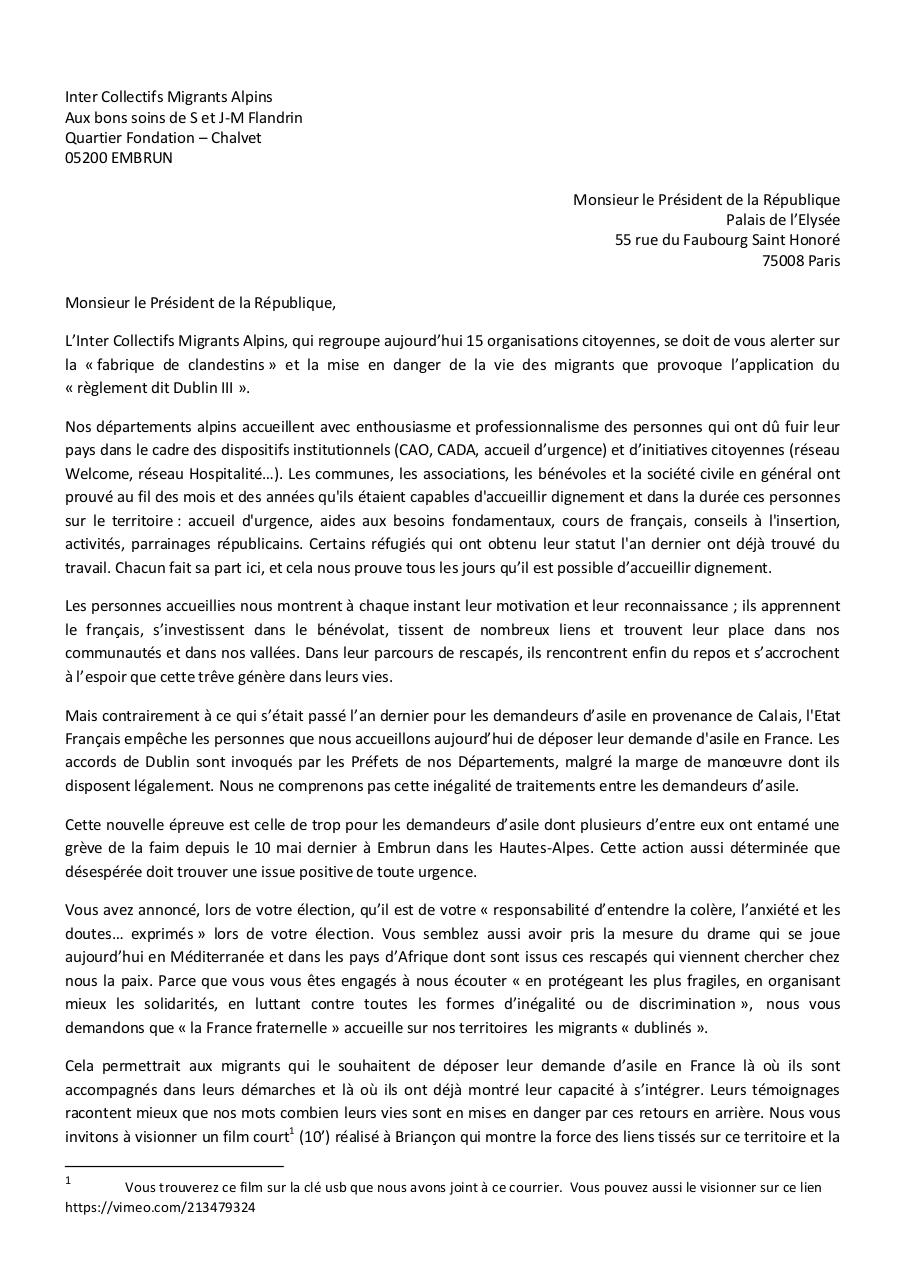 Aperçu du document 17-05-16 lettres-intercollectifs  Alpins-macron.pdf - page 1/2
