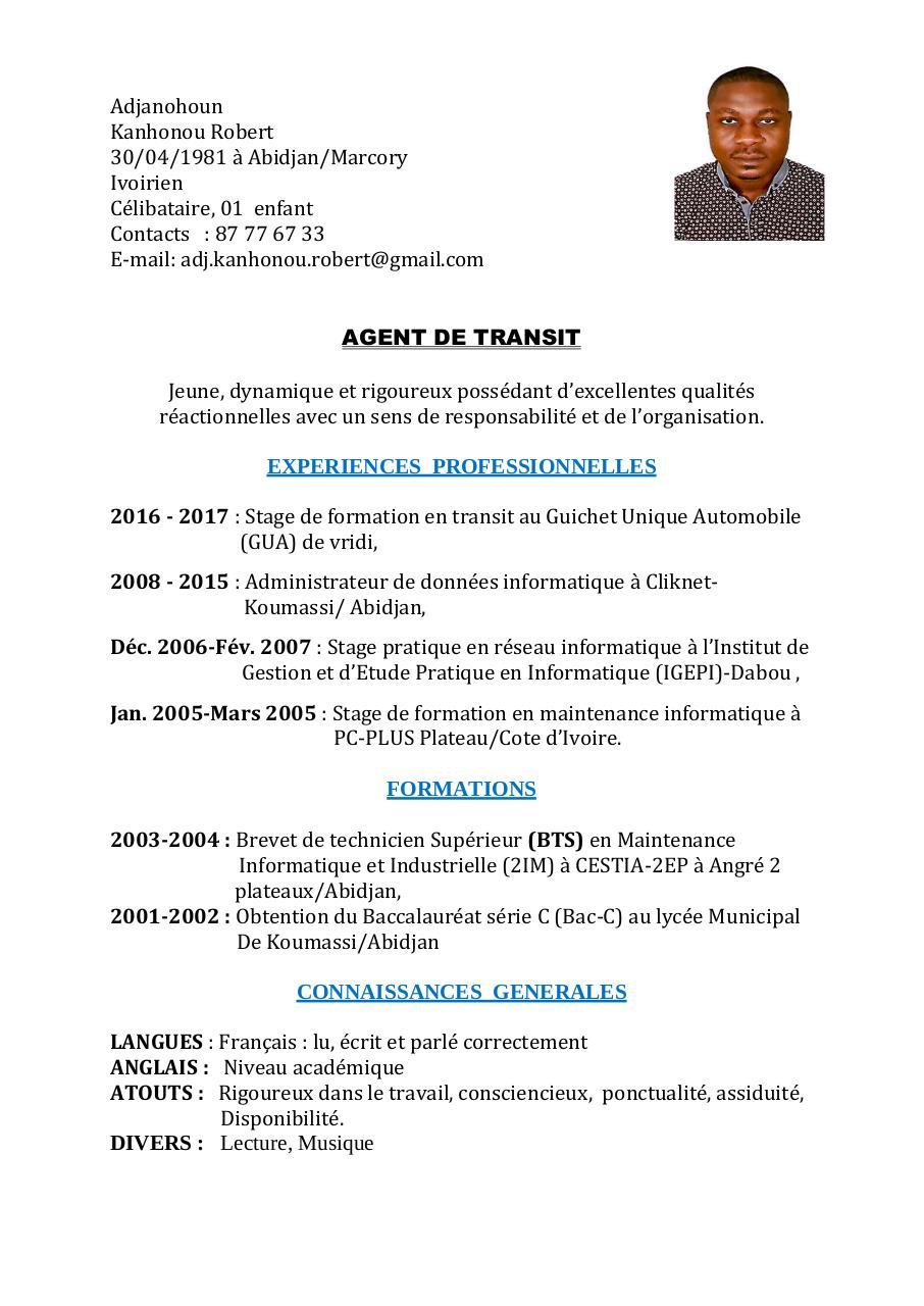 cv robert  cv robert pdf