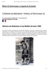 l histoire du balne aire