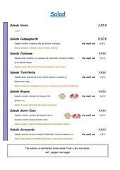 menu bba anglais