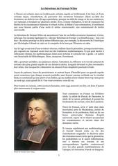 le theoreme de fermat wiles