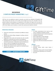 gift time chef de projet marketing