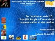 presentation de mohand ali allioui akc