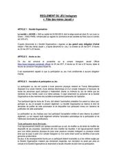 reglement jeu concours instagram fete des meres jacadi