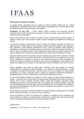 communique de presse ifaas casablanca mai2017 230517