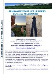 brochure seminaire leaders du 3eme millenaire