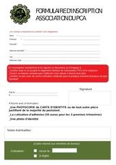 Fichier PDF formulairepca
