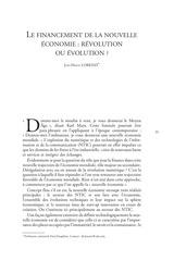texte 7 le financement de la nouvelle economie